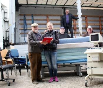 Допомога медзакладам Маневиччинии  від німецьких благодійників