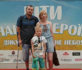 Тяжко травмований атовець   живе мрією без милиць  зіграти із сином у футбол